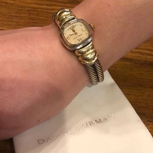 Authentic David Yurman Two-tone Cable Watch.